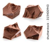chocolate pieces. collection. | Shutterstock . vector #315400943
