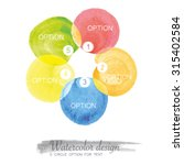 5 circle option with watercolor ...   Shutterstock .eps vector #315402584
