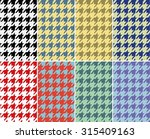 Houndstooth Seamless  Pattern...