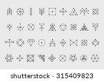 set of geometric shapes. trendy ...   Shutterstock .eps vector #315409823