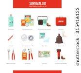 survival emergency kit for... | Shutterstock .eps vector #315416123