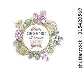 organic food design template.... | Shutterstock .eps vector #315420569