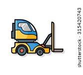cargo truck doodle | Shutterstock .eps vector #315420743