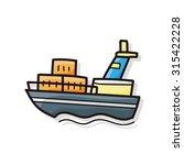 boat doodle | Shutterstock .eps vector #315422228