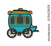carriage doodle | Shutterstock .eps vector #315423029