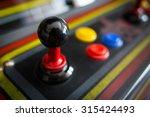 Joystick Of A Vintage Arcade...