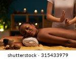 smiling woman receiving... | Shutterstock . vector #315433979