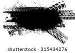 vector print textured tire... | Shutterstock .eps vector #315434276