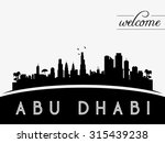 abu dhabi  uae skyline... | Shutterstock .eps vector #315439238