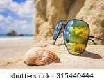 poly color sunglasses ... | Shutterstock . vector #315440444