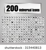 set of 200 icons for web and... | Shutterstock .eps vector #315440813