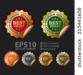 vector   metallic circle best... | Shutterstock .eps vector #315441608