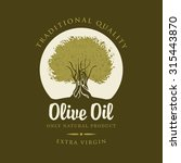 banner with olive tree and...   Shutterstock .eps vector #315443870