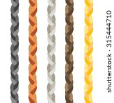 set of five colorful braids | Shutterstock .eps vector #315444710