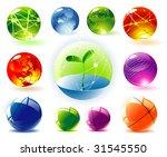 organic vector spheres | Shutterstock .eps vector #31545550