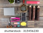 bright stationery objects on... | Shutterstock . vector #315456230