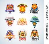 Basketball Logo Templates Set ...