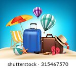 3d realistic summer vacation... | Shutterstock .eps vector #315467570