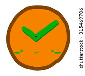 cartoon clock icon. the vector...