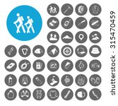hiking icons set. illustration... | Shutterstock .eps vector #315470459
