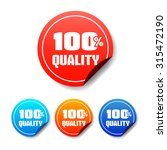 100  quality round stickers | Shutterstock .eps vector #315472190