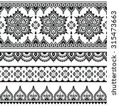 mehndi  indian henna tattoo... | Shutterstock .eps vector #315473663