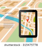 gps technology laying of a... | Shutterstock .eps vector #315475778