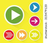 set of 6 vector arrow icons. | Shutterstock .eps vector #315479120