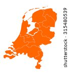 map of thr netherlands | Shutterstock .eps vector #315480539