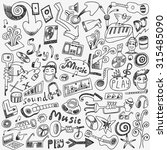 music doodles  | Shutterstock .eps vector #315485090