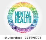 mental health circle stamp word ... | Shutterstock .eps vector #315495776