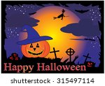 halloween background | Shutterstock .eps vector #315497114
