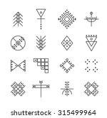 set of geometric shapes. trendy ... | Shutterstock .eps vector #315499964