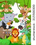 collection animal safari in the ... | Shutterstock . vector #315500300