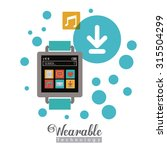 wearabe technology concept with ... | Shutterstock .eps vector #315504299