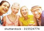 diverse neighbors drinking...   Shutterstock . vector #315524774
