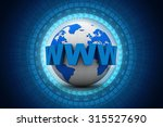word www is wrapped in front of ... | Shutterstock . vector #315527690