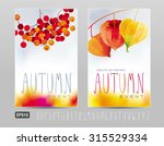 two posters for autumn events... | Shutterstock .eps vector #315529334