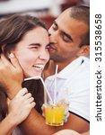 couple having fun in an outdoor ...   Shutterstock . vector #315538658