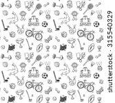 hand drawn doodle sport...   Shutterstock . vector #315540329