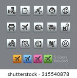 shipping and tracking icons ... | Shutterstock .eps vector #315540878