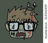 halloween cartoon funny hipster ... | Shutterstock .eps vector #315542459