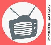 cartoon flat simple tv icon....