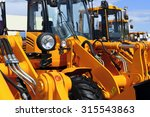 bulldozer headlight  row of... | Shutterstock . vector #315543863