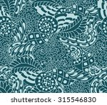hand drawn zentangle seamless... | Shutterstock .eps vector #315546830