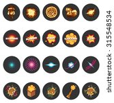 explosion icons set in flat... | Shutterstock .eps vector #315548534