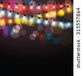 christmas garlands glowing... | Shutterstock .eps vector #315557864