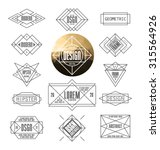 set of minimal monochrome... | Shutterstock .eps vector #315564926