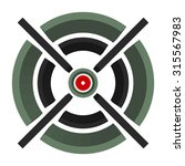 3d cross hair  reticle  target... | Shutterstock .eps vector #315567983