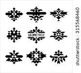 set of minimal monochrome... | Shutterstock .eps vector #315568460